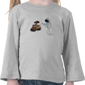 Eve and WALL-E with Christmas Lights T-shirts