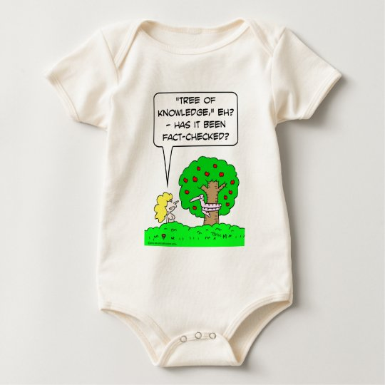 Eve asks, has Tree of Knowledgebeen fact-checked? Baby Bodysuit