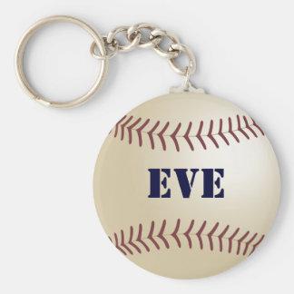 Eve Baseball Keychain by 369MyName