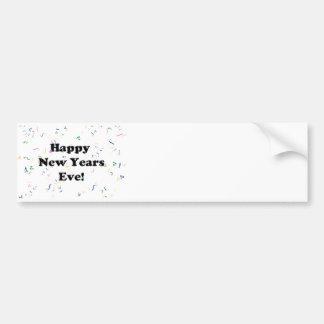 Eve de la Feliz Año Nuevo Etiqueta De Parachoque
