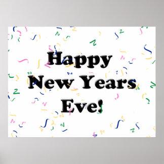 Eve de la Feliz Año Nuevo Poster