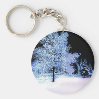 Eve del invierno llavero redondo tipo pin
