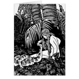 Eve en el jardín felicitaciones