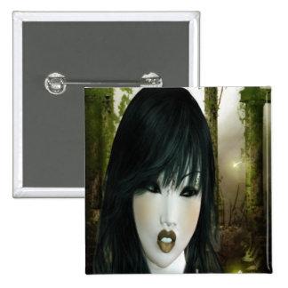 Eve gótico pin cuadrada 5 cm
