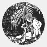 Eve In The Garden Round Sticker