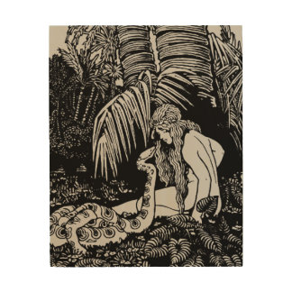 Eve In The Garden Wood Print