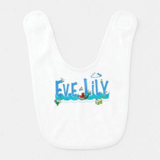 EVE-LILY / personalised name illustration Bib