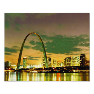 Eve of the 1982 World Series- St. Louis, Missouri Poster