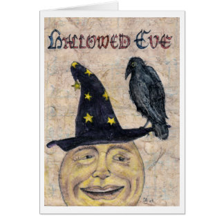 Eve santificado tarjeta de felicitación