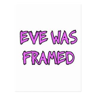 Eve was FRAMED Postcard