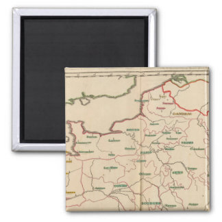 Evechez, France 2 Inch Square Magnet