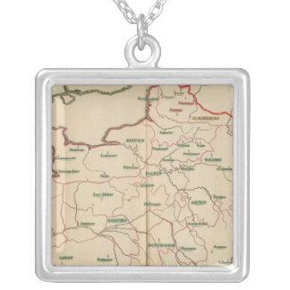 Evechez, France Square Pendant Necklace