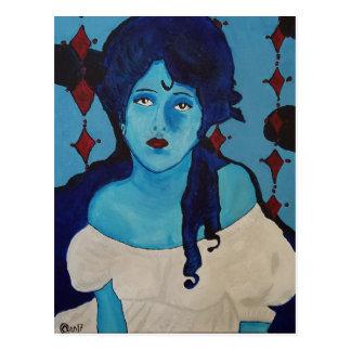 Evelyn Blue Postcard