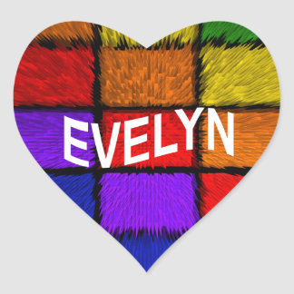 EVELYN HEART STICKER