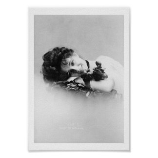 Evelyn Nesbit, 1901 as photograhed by Otto Sarony Poster