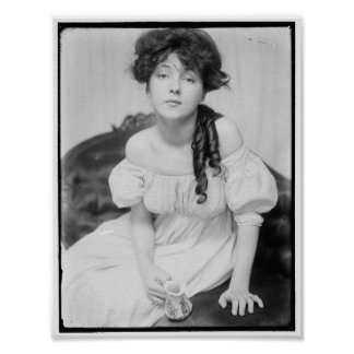 Evelyn Nesbitt cerca de 1900 Impresiones
