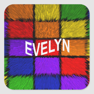 EVELYN SQUARE STICKER