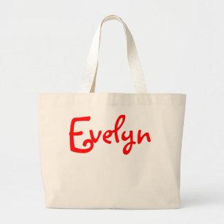 Evelyn - tote enorme de la lona bolsa tela grande