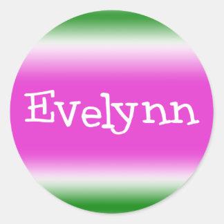 Evelynn Pegatina Redonda