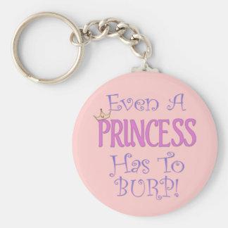 Even A Princess Burps Basic Round Button Keychain