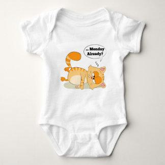 Even Cat Hates Monday Baby Bodysuit