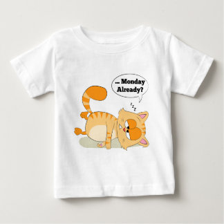 Even Cat Hates Monday Baby T-Shirt