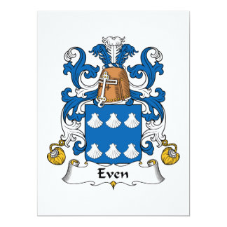 Even Family Crest Card