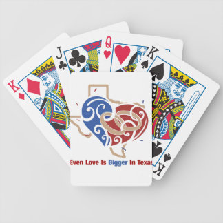Even Love Is Bigger In Texas Bicycle Playing Cards