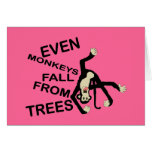 """Even Monkeys Funny """"I'm Sorry"""" Greetings Card"""