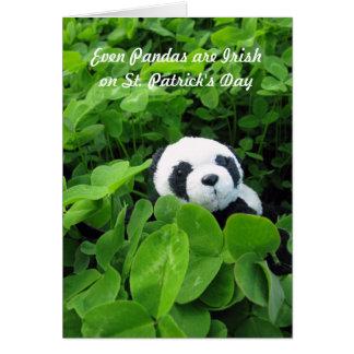 Even Pandas are Irish Greeting Card