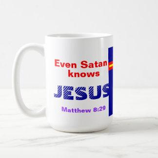Even Satan Knows Jesus Coffee Mug