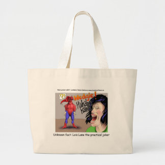 Even Superheroes Get Wedgies Funny Gifts Mugs Etc Large Tote Bag