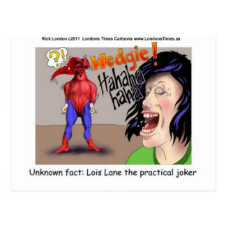 Even Superheroes Get Wedgies Funny Gifts Mugs Etc Postcard