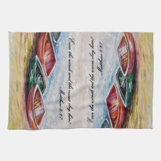 Even the Winds and Waves Kitchen Towel