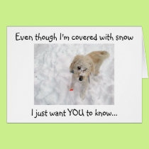 EVEN THOUGH I'M COVERED WITH SNOW-40th BIRTHDAY Card
