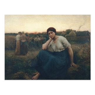 Evening, 1860 postcard
