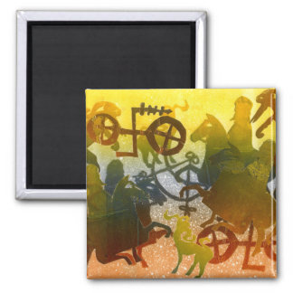 Evening 2 Inch Square Magnet