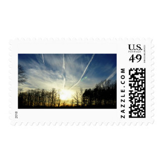 Evening Airmen's Sky Postage Stamp