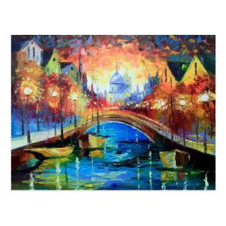 Evening Amsterdam Postcard