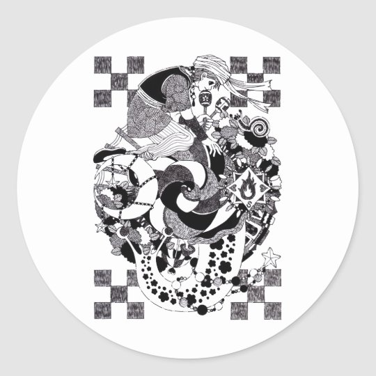 Evening (An evening of snails) of snail Classic Round Sticker