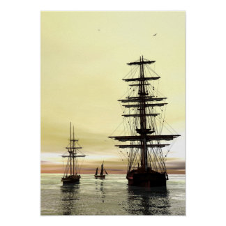 'Evening at Anchor' Posters