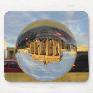 Evening at Brandenburg Gate, Berlin, crystal ball Mouse Pad