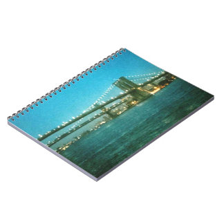 Evening at Brooklyn Bridge Spiral Notebooks