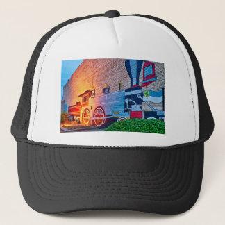 evening at clover south carolina small town york c trucker hat