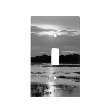 Evening At Folly River Grayscale Light Switch Cover