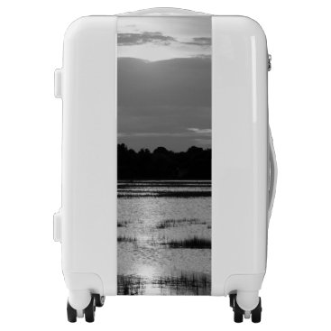 Evening At Folly River Grayscale Luggage