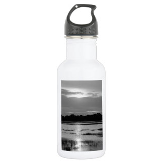 Evening At Folly River Grayscale Water Bottle