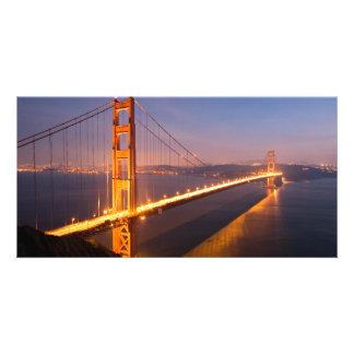 """Evening at Golden Gate Bridge"" photo cards"