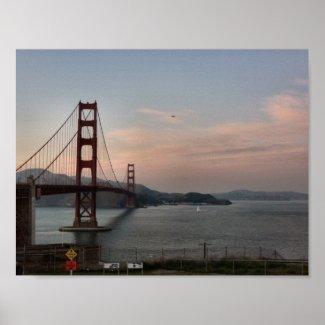Evening at Golden Gate Bridge Poster