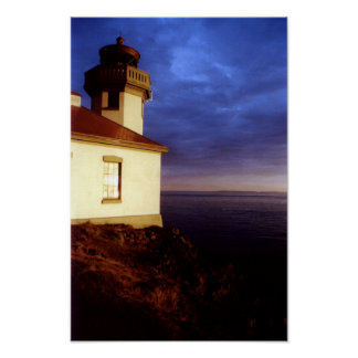 Evening at Lime Kiln Lighthouse Print